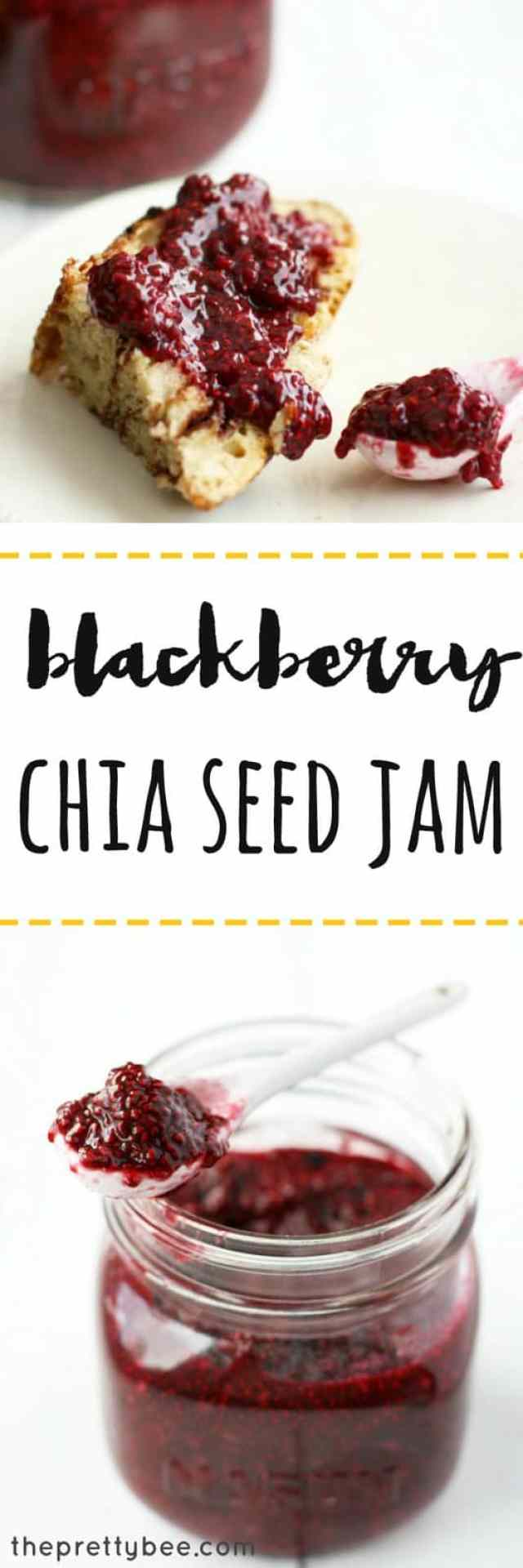 Easy and delicious blackberry chia seed jam recipe! A delicious way to make jam.