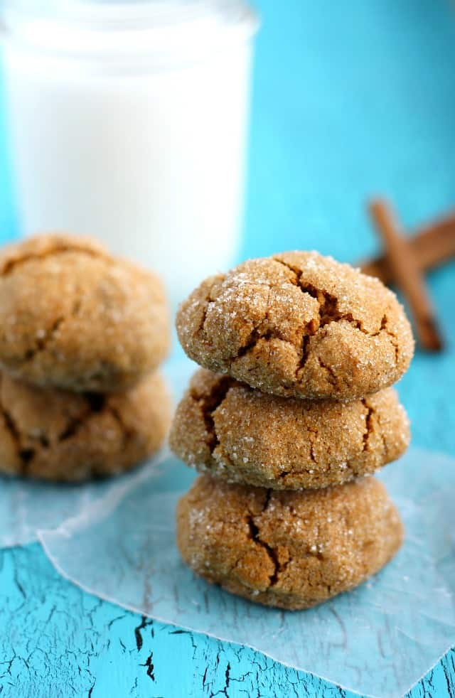 Pumpkin Spice Molasses Cookies. - The Pretty Bee