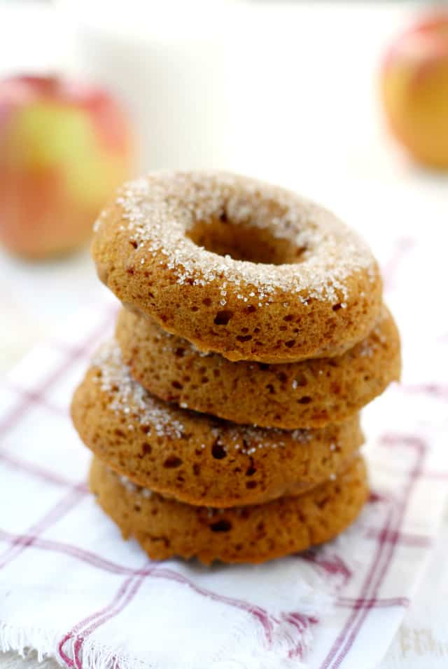Spiced Apple Cider Donuts (Vegan and Gluten Free). - The Pretty Bee