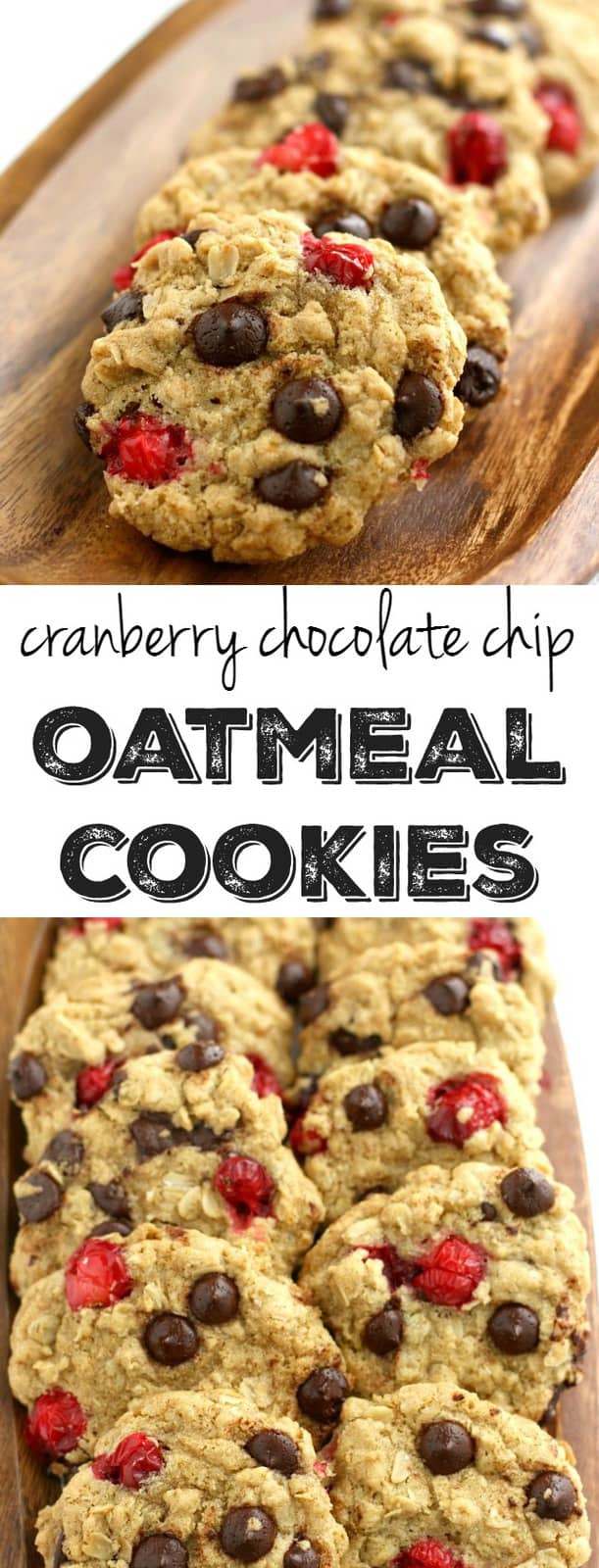 Chocolate Chip Oatmeal Cookies with Fresh Cranberries ...