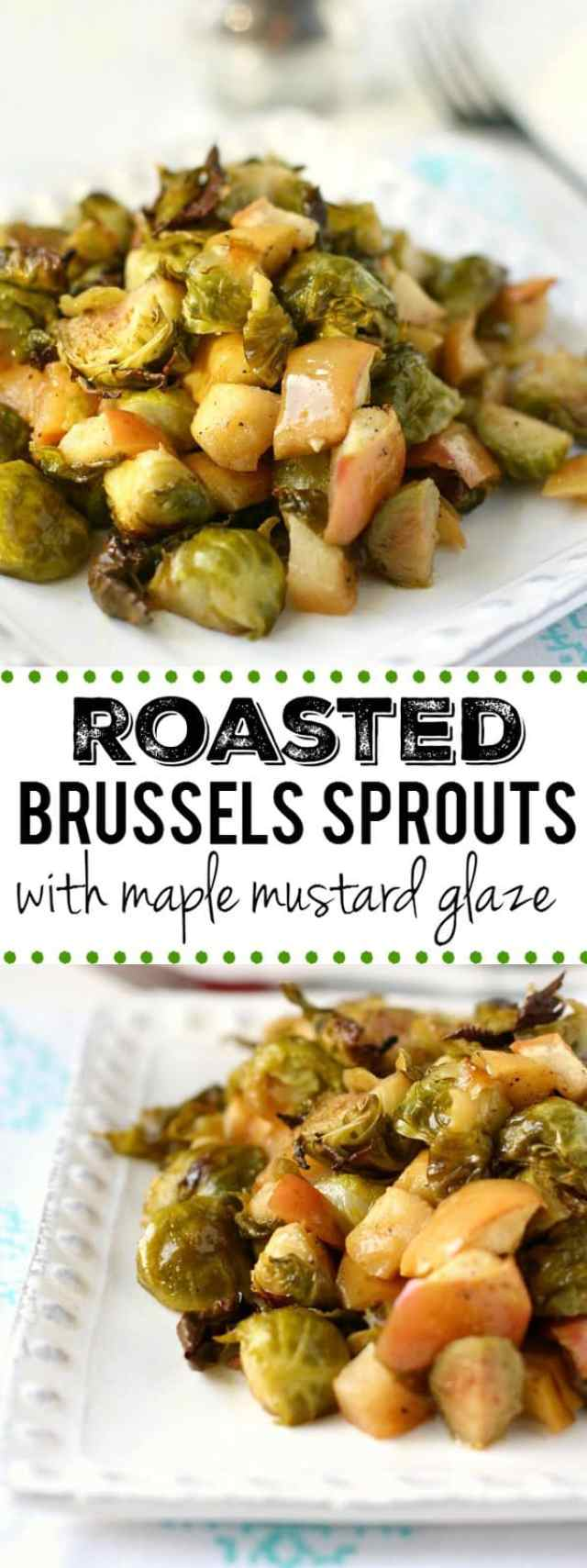 Make brussels sprouts stand out at the holiday table with a delicious maple mustard glaze! Gluten free, paleo, and vegan recipe.