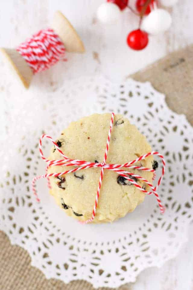 Buttery lemon cookies are studded with currants and make a perfect addition to your holiday cookie party! These are light and delicious! #glutenfree AD #vegan