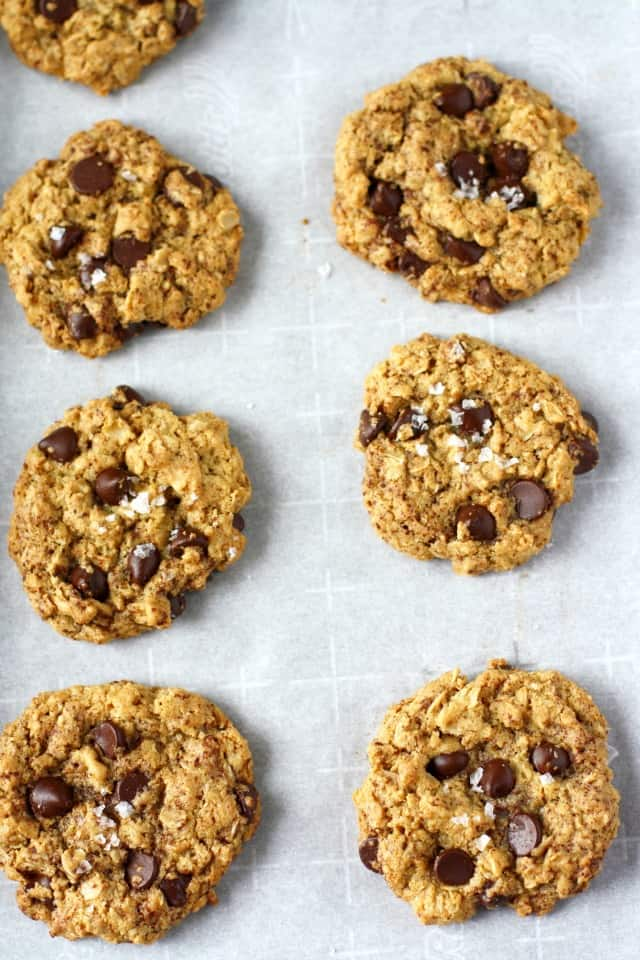 Chewy oatmeal cookies are loaded with chocolate chips, chocolate ...