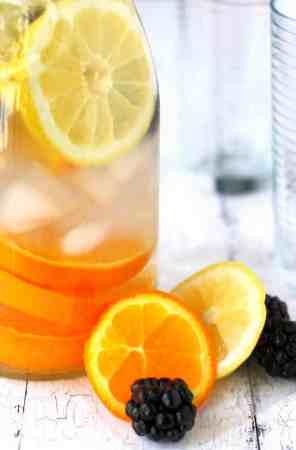 Citrus blackberry water is a refreshing way to stay hydrated!