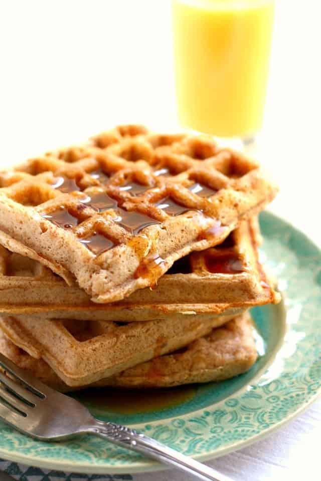Cinnamon Sugar Egg Free Waffles.