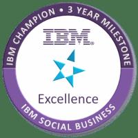 IBM Champion for Social Business - 3 Year Milestone