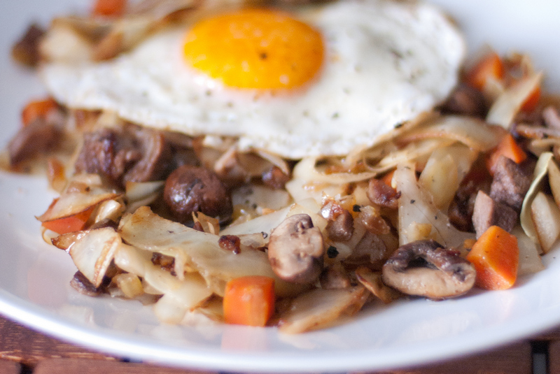 Paleo Cabbage Hash by The Primal Desire - Featured at Natural Family Friday