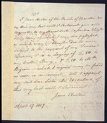 Last will, Jane Austen's Will
