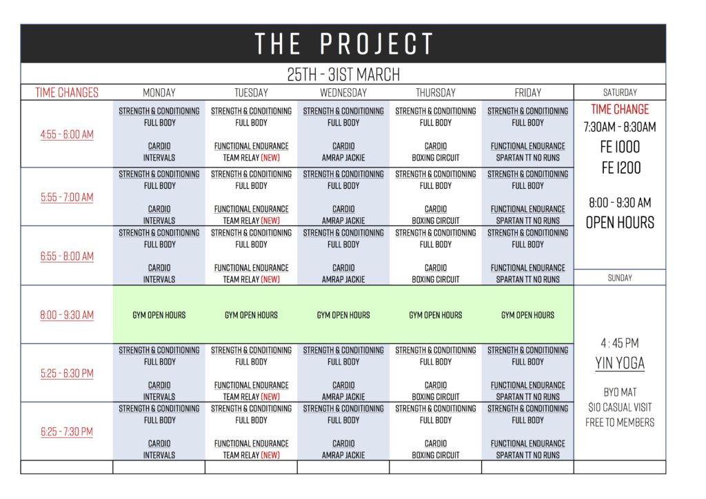 Timetable / Memberships \u2013 the project