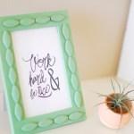 DIY \ Textured Frame
