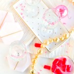 DIY Candied Rim Champagne Flutes