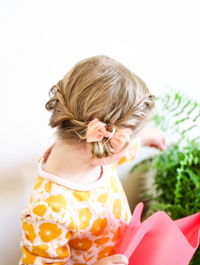 Toddler Braid Hack || www.theproperblog.com