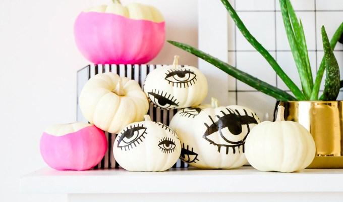 EYE'M WATCHING YOU \\ DIY Tattooed Pumpkins with Printable Eyes