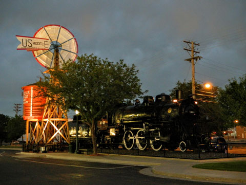 Train and Windmill at Lamar Chamber Office