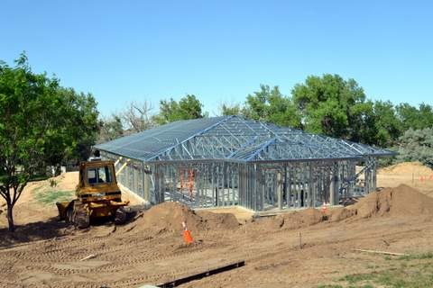 New Dorm Framework as seen from Cafeteria