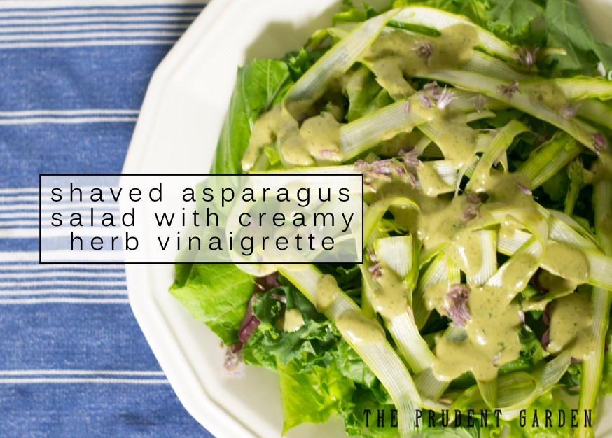 Shaved Asparagus Salad with Creamy Herb Vinaigrette