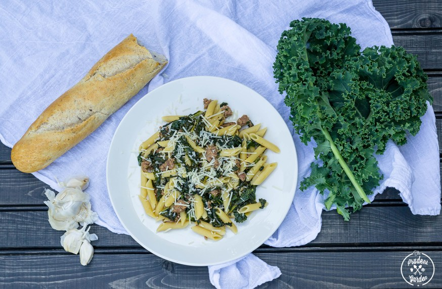 Penne with Kale and Sausage