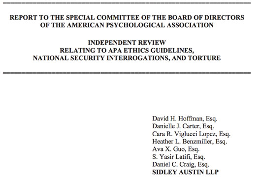 Torture report \u0027will help define the meaning of psychology\u0027 The