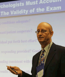 Dr. Michael Chafetz has been at the center of the debate about improving validity in SSA disability exams. The SSA Inspector General, members of Congress, and now the Institute of Medicine, support his views.