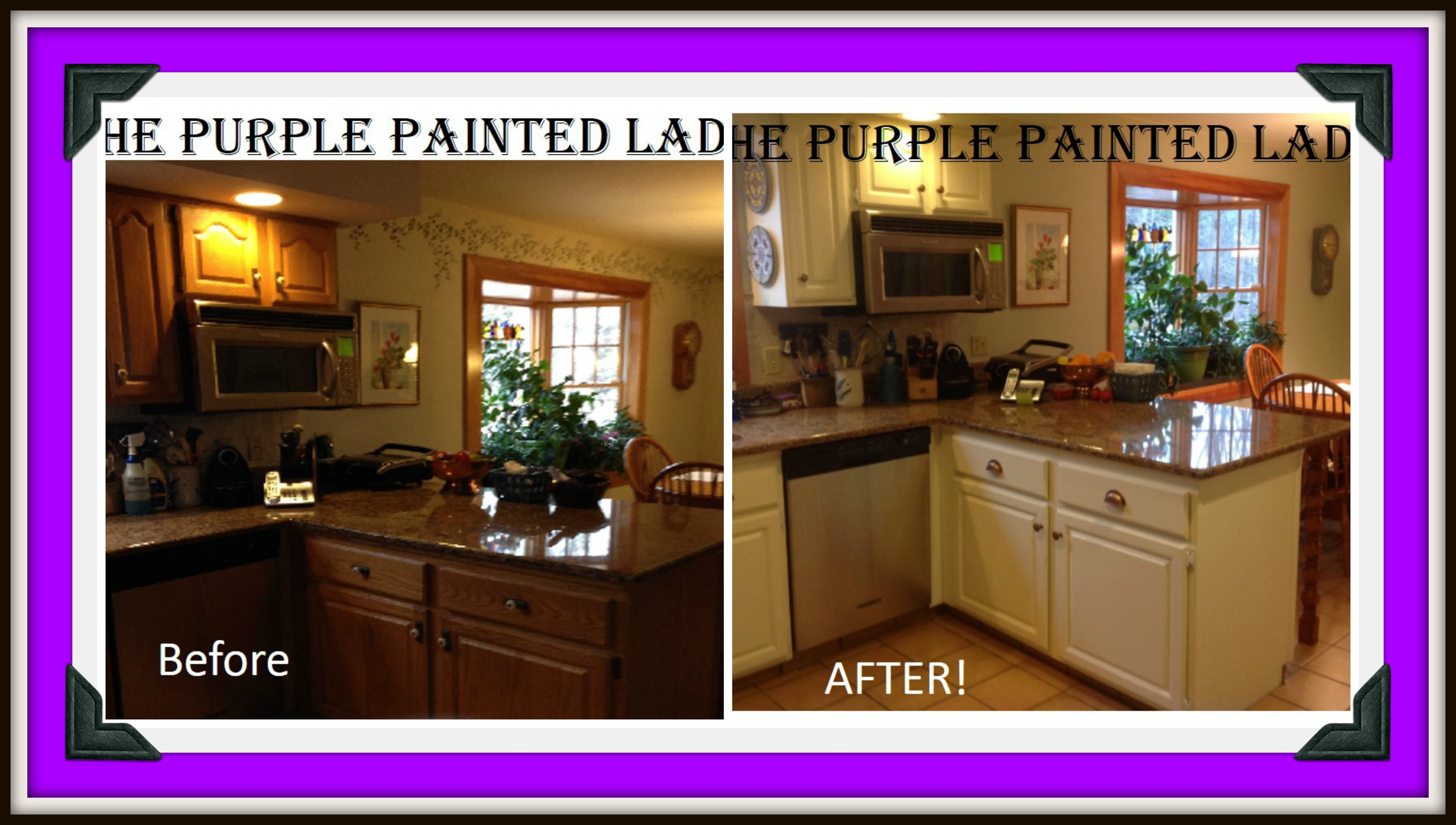 Images Of Painted Kitchen Cabinets Do Your Kitchen Cabinets Look Tired The Purple Painted Lady
