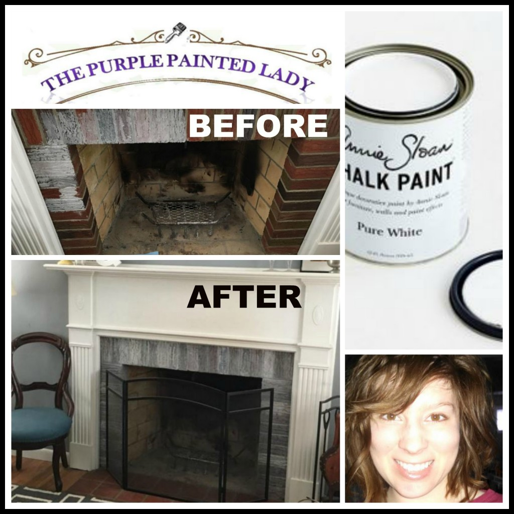 Painting An Old Fireplace Paint Your Fireplace Mantle Or Surround With Chalk Paint The