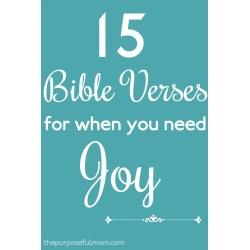 Small Crop Of Bible Verses On Joy