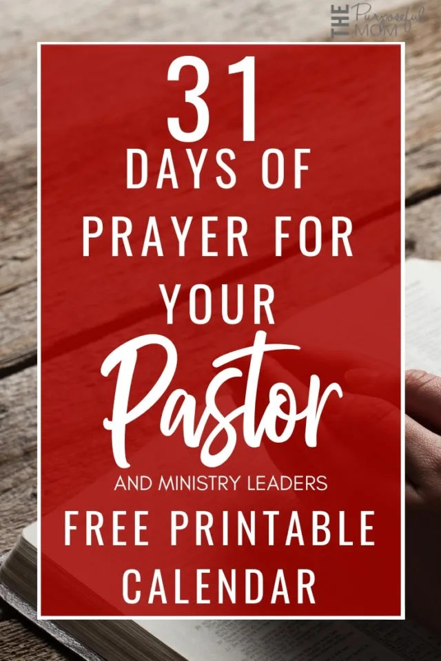 31 Days of Praying for Your Pastor and Ministry Leaders Free