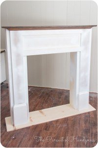 Wooden Building A Fake Fireplace Surround PDF Plans
