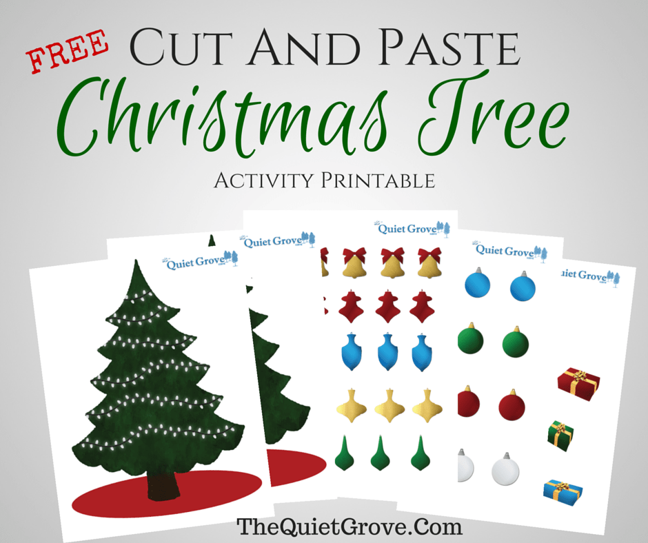 Free Cut and Paste Christmas Tree Activity Printable ⋆ The Quiet ...