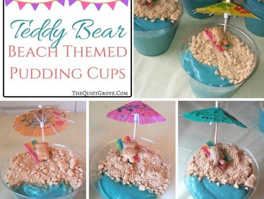 Teddy Bear Beach Pudding Cup (1)