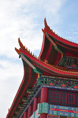 Nan Hua Temple roof