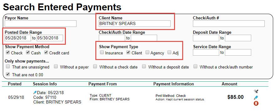 Client Payment Receipt \u2013 Therabill