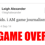 MEGAPHONE SILENCED: My Old Friend Leigh Alexander Quits Gaming Journalism