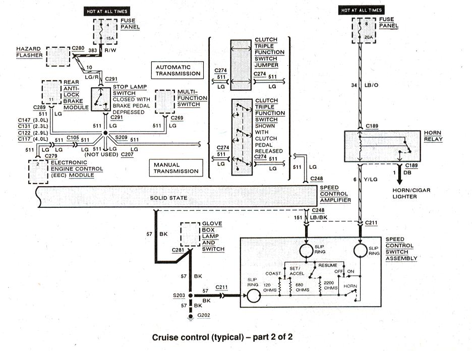 1990 ford ranger brake light wiring diagram