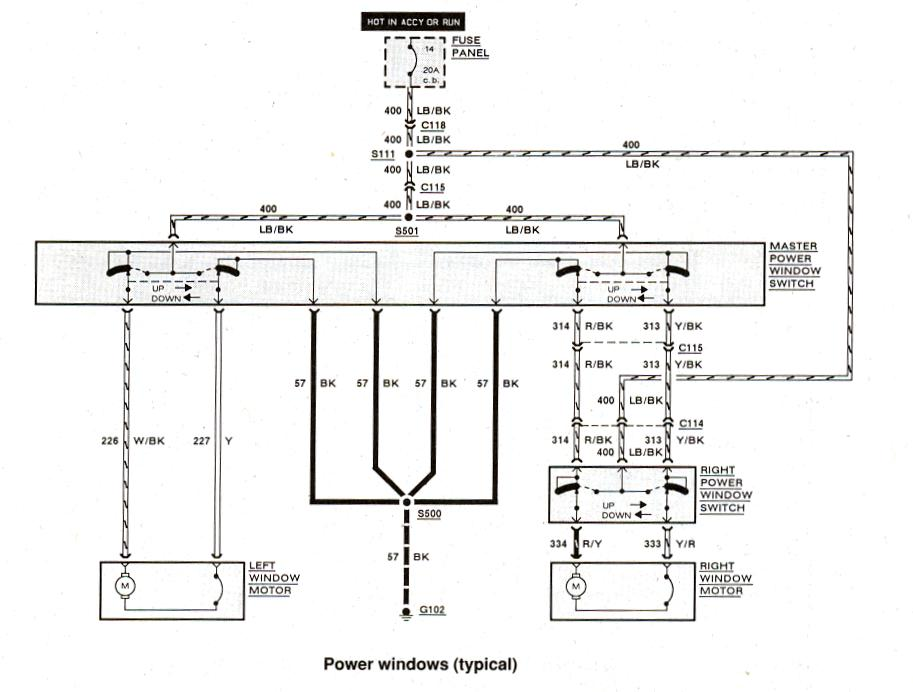 Ford Ranger wiring by color - 1983-1991