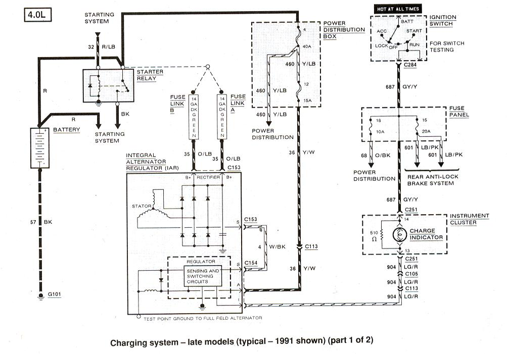 1991 mustang alternator wiring schematic