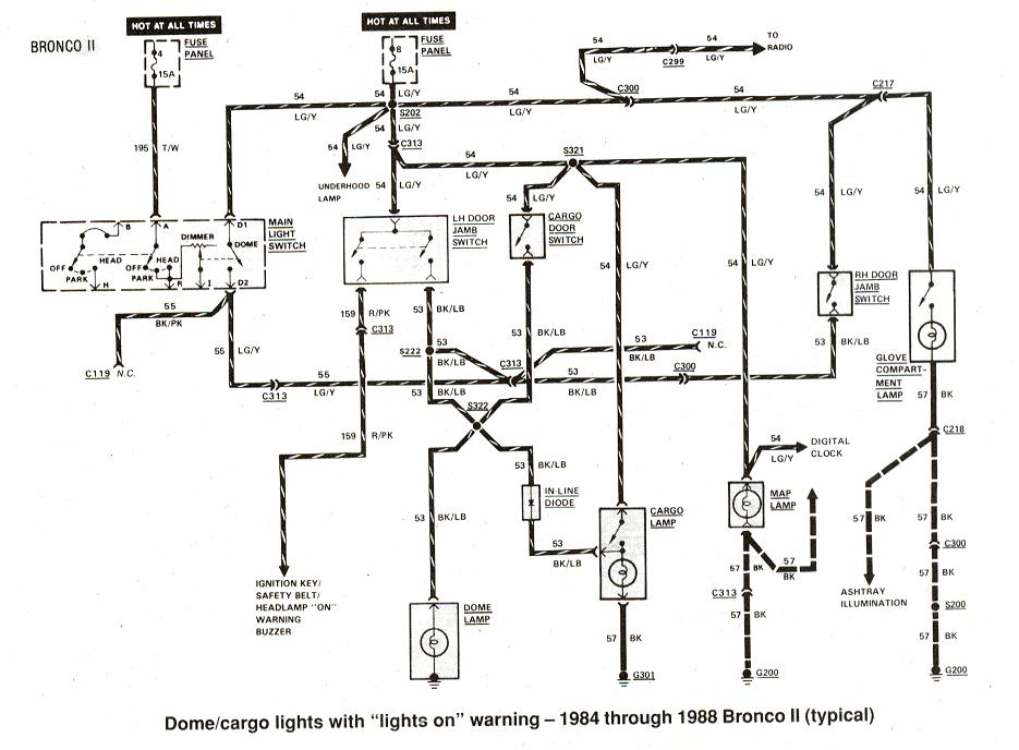 1990 ford bronco2 instrument panel diagram