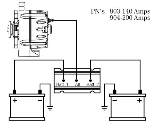 dual alternator battery isolator wiring diagram