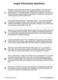 All Worksheets  Anger Management Worksheets For Teens ...