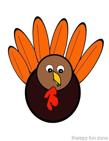 Scissor Cutting Turkey Template - Therapy Fun Zone