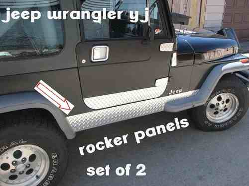 Jeep Yj Diamond Plate Side Rocker Panel 6""