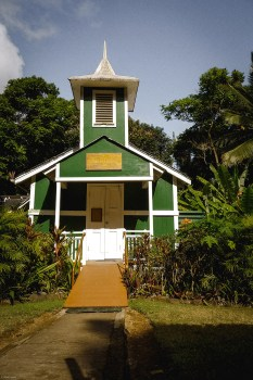 molokai travel, village church in Halawa Valley