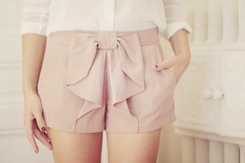 Chiffon Bow Shorts