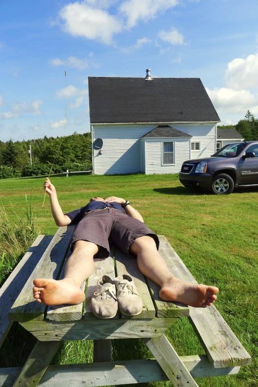Cape Breton, Judique, Old Farm, Old Farmhouse, Sky gazing