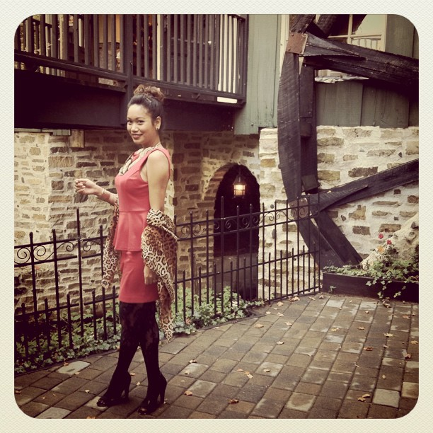 OOTD, Lady in Red, Red Peplum Dress, Red peplum bb dakota dress