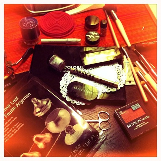 Halloween silver makeup