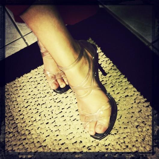 Jean Paul Gaultier Melissa shoes, Clear stilettos