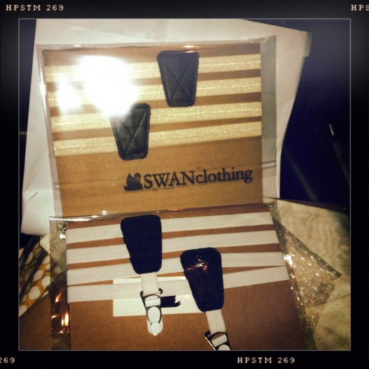 Swan Clothing thigh high sock garters, thigh high sock garters, garters