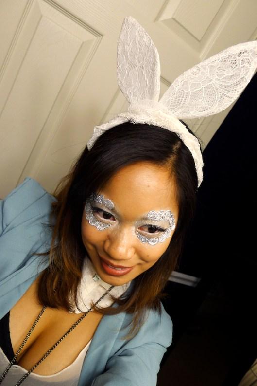 Theatre Bizarre, Detroit Halloween, Lady Gaga Halloween, Lace White Rabbit Costume