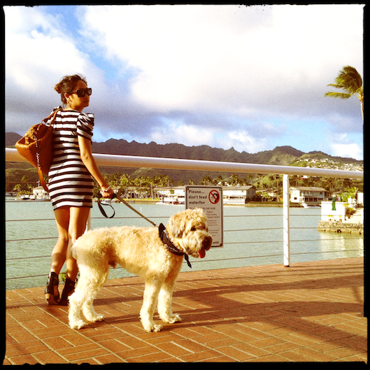 OOTD, Hawaii Street Style, Striped Micro Minidress, Hipstamatic